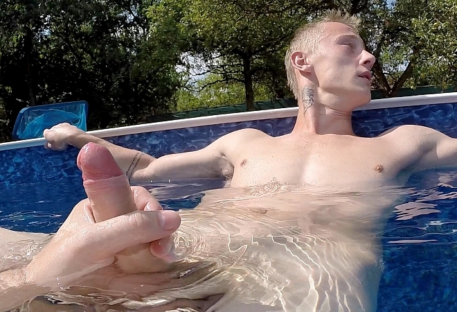 Massaged Twink Gets Jizzed On After Handjob