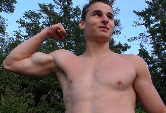 Outdoor - Posing and Flexing