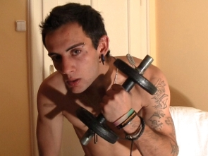 Web Cam - Flexing and Shower